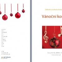 Vánoční koncert 9. 12. 2014, program