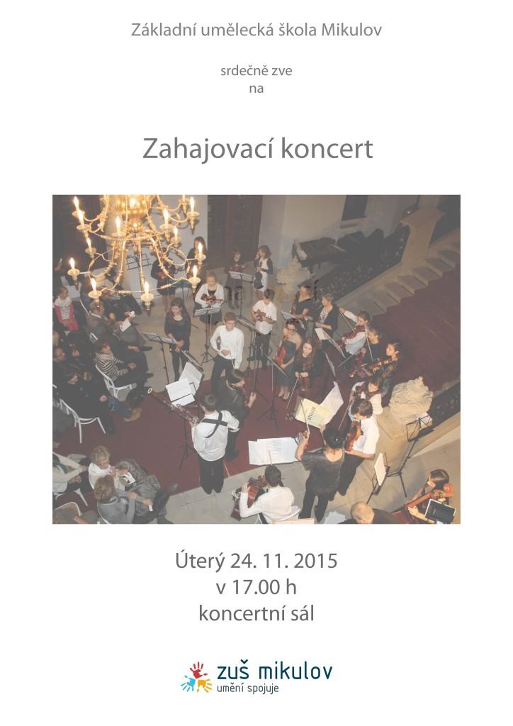 Zahajovací koncert 24. 11. 2015