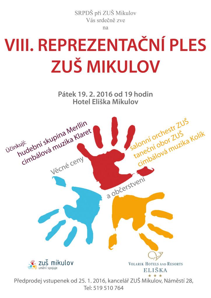 19. 2. 2016 Ples ZUŠ Mikulov