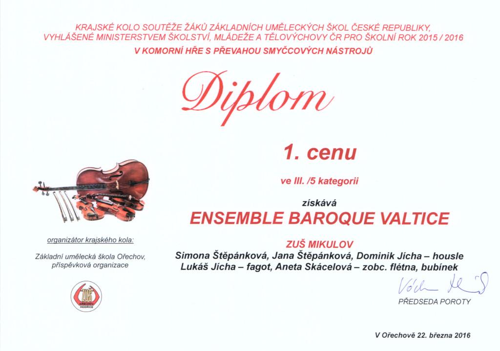 Diplom KH smyčce EBV