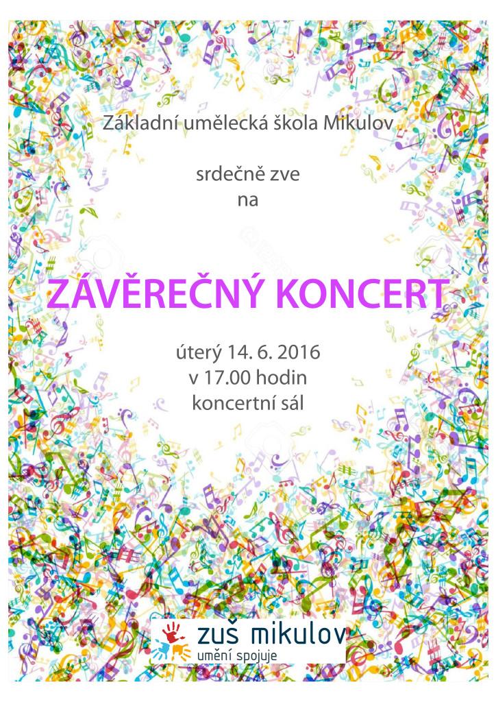 Závěrečný koncert 14.6. 2016