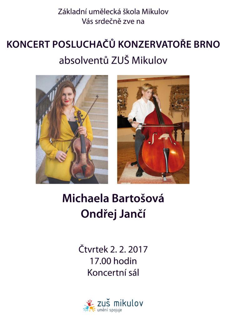 Koncert posluchačů Konzervatoře Brno 2017