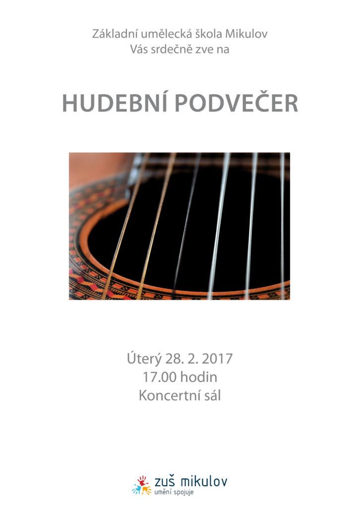 Hudební podvečer 28. 2. 2017 program