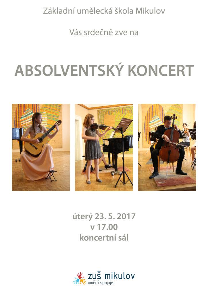 Absolventský koncert 23. 5. 2017