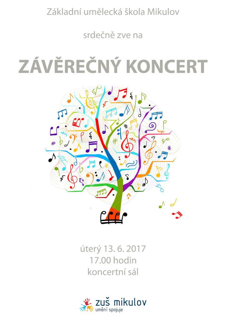 Závěrečný koncert 13. 6. 2017