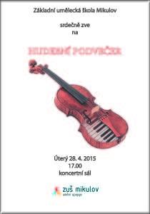Hudební podvečer 28. 4. 2015